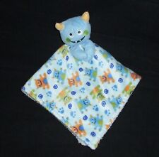 Little Beginnings Blue Alien Monster Baby Blanket Sherpa Orange Green Lovey