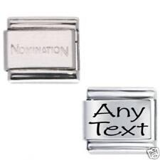 1x Custom Made Any Name & 1x Genuine Nomination.Italian Bracelet Link Bundle