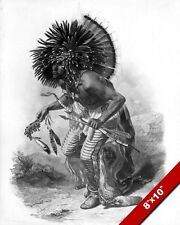 CROW DOG DANCE NATIVE AMERICAN INDIAN CEREMONY PAINTING ART REAL CANVAS PRINT