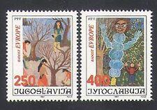 Yugoslavia 1987 Europe/Art/Children/Paintings 2v set (n34025)