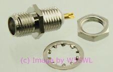 SMA Female Bulkhead Connector Single Hole Mount Teflon Insulator - by W5SWL ®