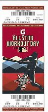 2011 MLB ALL STAR WORKOUT DAY HOME RUN DERBY TICKET STUB ROBINSON CANO WINS HR