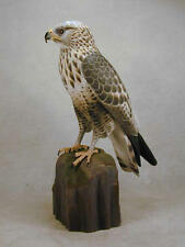 Rough-Legged Hawk Original Wood Carving