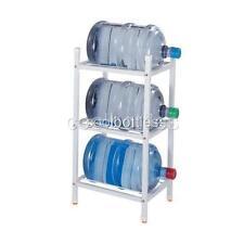 White 3-Step Metal Storage Rack for Water Bottle Jugs