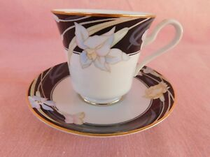 Mikasa Charisma Black CUP & SAUCER 1 of 4 available- have more items to set
