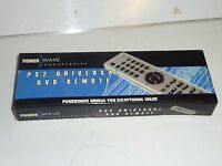sony playstation 2 universal dvd remote control ps2 new nos power wave