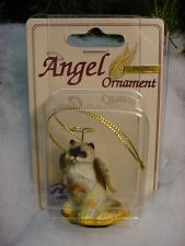 Ragdoll blue eyes Cat Angel Ornament Figurine statue New kitty kitten Christmas