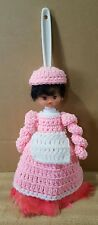"""Crochet """"Pink Lady"""" 14"""" Feather Duster Doll"""