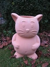 terracotta Katze zum Bepflanzen Pflanztopf naiv dickwandig 47 cm winterhart Neu