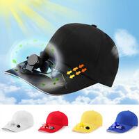 Unisex Sport Solar Powered Fan Cap Cooling Baseball Hat Outdoor Sun Visor Cap