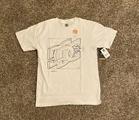 DC Shoes Mens Graphic T-Shirt Small Fast Dry White Big Logo Spell Out NWT