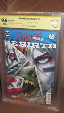 Suicide Squad #1 Rebirth CBCS SS 9.6 Signed Artist Phillip Tan harley quinn CGC