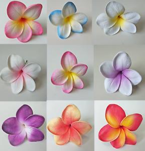 LATEX FRANGIPANI HAWAIIAN PLUMERIA FRANGIPANIES WEDDING FLOWERS FAKE SILK FLOWER