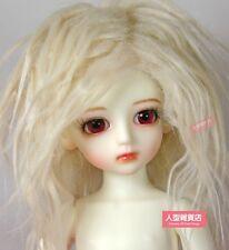 BJD doll wig 6-7 inch 16-17cm 1/6 BJD DOLL MSD Fur Wig Dollfie light yellow