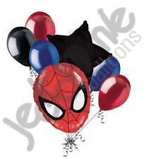 7 pc Spiderman Head Balloon Bouquet Party Decoration Amazing Spider Super Hero