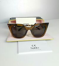 FENDI FF0060/S MSWNR 52-20/140mm Orange-Olive Translucent GLD Sunglasses NEW
