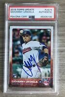 Giovanny Urshela Signed 2015 Topps Update RC Card Auto Autographed + PSA DNA COA