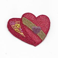Sparkly Valentine Candy Heart Box Embroidered Iron On Patch Applique154898