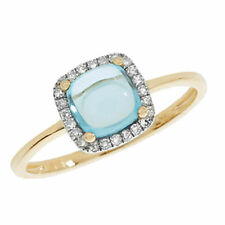 Cushion Topaz 9 Carat Yellow Gold Fine Rings