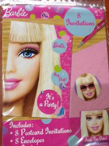 Disney Barbie Girls Birthday Party Invitations Invites Pack 8