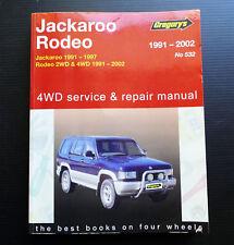UBS Jackaroo TF Rodeo 4WD Workshop Service Repair Manual 4ZD1 4ZE1 6VD1 X22SE