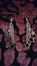 "Handmade Shooting Stars Earrings (""antique silver"")"