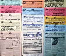 Electric Boat Association newsletter batch - 15 issues 1993-1995