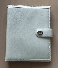 Bvlgari White Leather President Diary, New! MSRP $650
