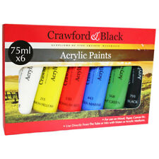 Crawford And Black Acrylic Paints - Set Of 6, Art Supplies, Brand New