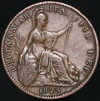 1825 | George III Farthing | Copper | Coins | KM Coins