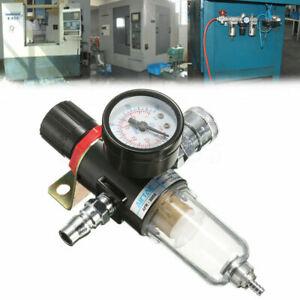 1/4'' Air Compressor Filter Water Separator Trap Kit With Regulator Gauge