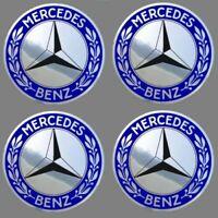 4 adhésifs stickers MERCEDES chrome 40 à 100 MM pour centre de jantes