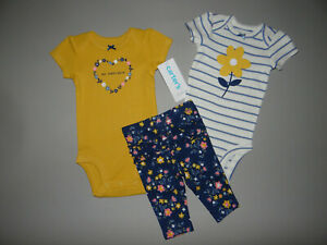 NWT, Baby girl clothes, Newborn, Carter's 3 piece set/ NEW ARRIVAL~