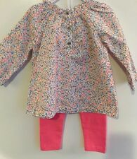 Carters Baby Girl 2 Piece Outfit Floral Spring Size 12 months NWOT