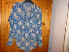 Blue, pink, multi floral tab sleeve oversize top, SILVIAN HEACH size XXS UK 8-10