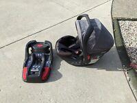 Britax B-safe 35 Elite Travel System Infant Car Seat With Base
