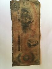 1861 Augusta Insurance Banking Company $1 One Dollar Bill Currency Note No 157