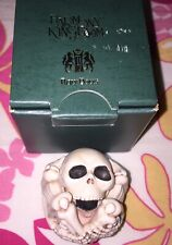 "Harmony Kingdom ""Bones"" Roly Poly Skeleton Figurine Halloween"