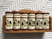 Vintage Spice Rack Set Dutch Windmill Made In Japan Westwood Collectible Vtg