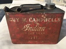 Early Original Oil Can Indian Motocycle Motorcycle 1910's Rare Iowa Dealer