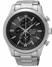 Seiko Chronograph Quartz Alarm SNAF67  Men's Watch New With Tags