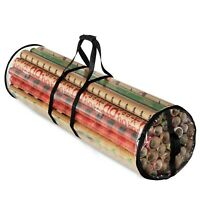 Christmas Clear Wrapping Paper Storage, Fits 18 Rolls Of Gift Wrap