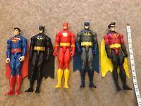 """LARGE DC COMICS 12"""" MATTEL Batman Robin Superman The Flash ACTION FIGURES"""