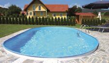 Pool OVAL Becken 7,37 x 3,6 x 1,5m Stahlwand Schwimmbecken Schwimmbad