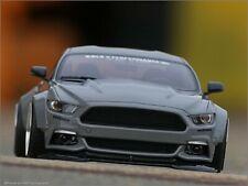 1:18 Tuning Ford Mustang Liberty Walk Breitbau / Grey Edition mit BBS ALU-Felgen