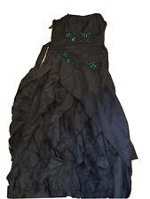black wedding/ Prom/ Halloween/ Formal/ dress size 12