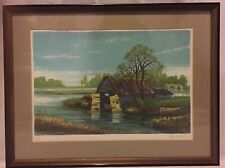 Alex Packham Signed Lithograph Limited 43/275 Untitled of Boat House - Framed