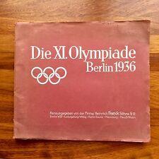 ZBA Sammelbilderalbum Olympia Berlín 1936 Olympische Spiele Firma Heinrich Franc