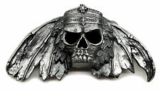 Skull Belt Buckle Fully 3D Skull & Crown Gothic Heavy Authentic Pagan Product