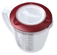 """WESTMARK Rührbecher mit zweigeteiltem Deckel """"Helena"""" grün o.rot 1,4 Liter Skala"""